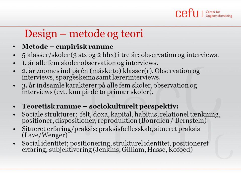 Design – metode og teori