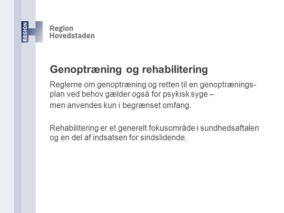 Genoptræning og rehabilitering