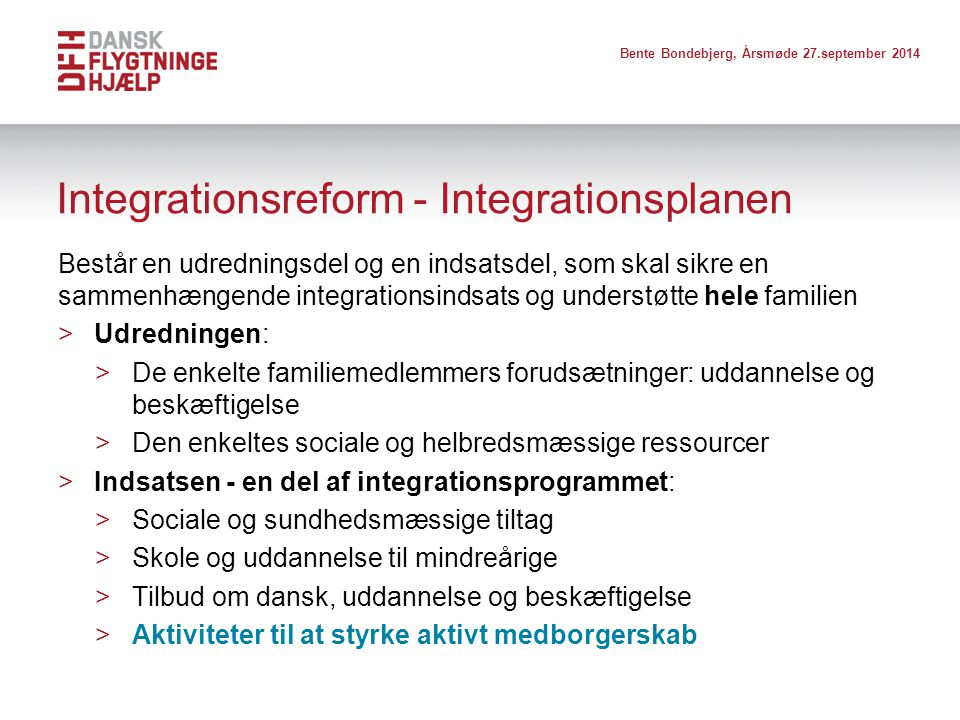 Integrationsreform - Integrationsplanen