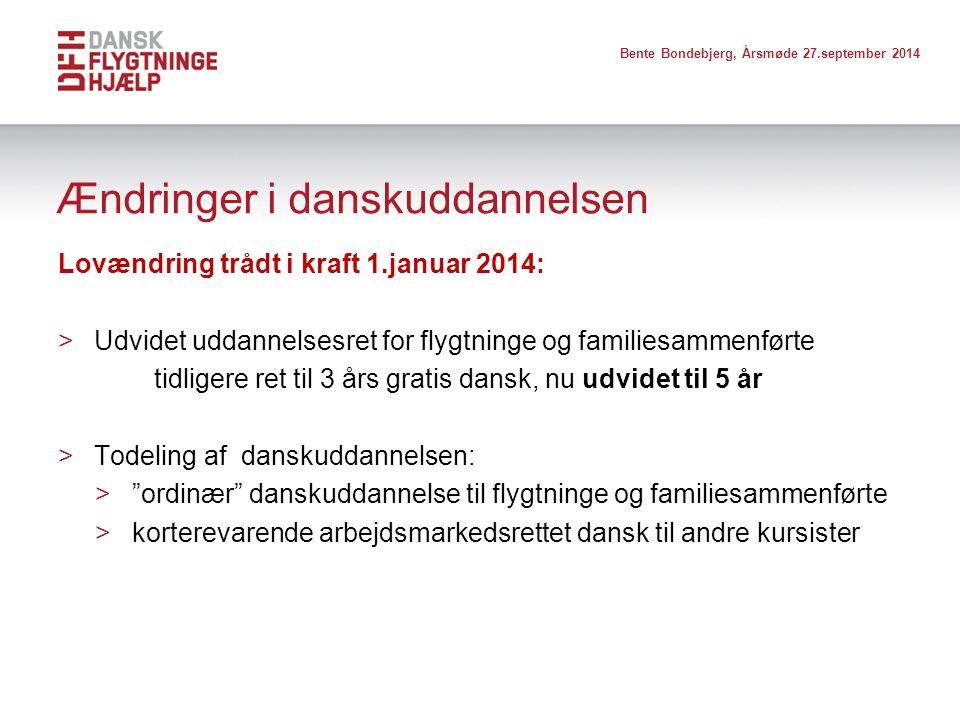 Ændringer i danskuddannelsen