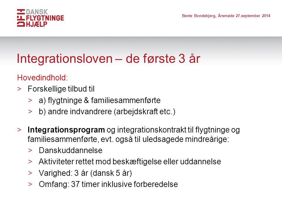 Integrationsloven – de første 3 år
