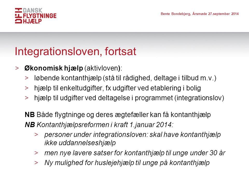 Integrationsloven, fortsat