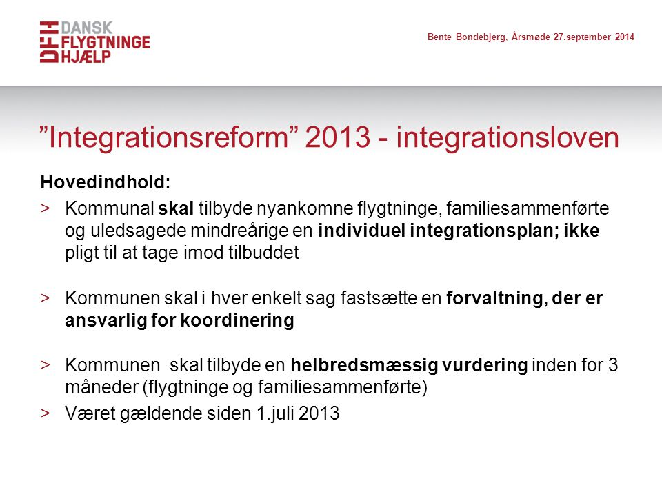 Integrationsreform 2013 - integrationsloven