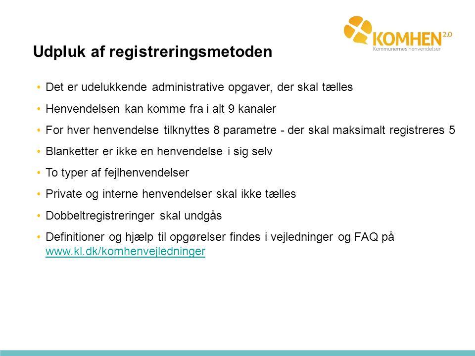 Udpluk af registreringsmetoden
