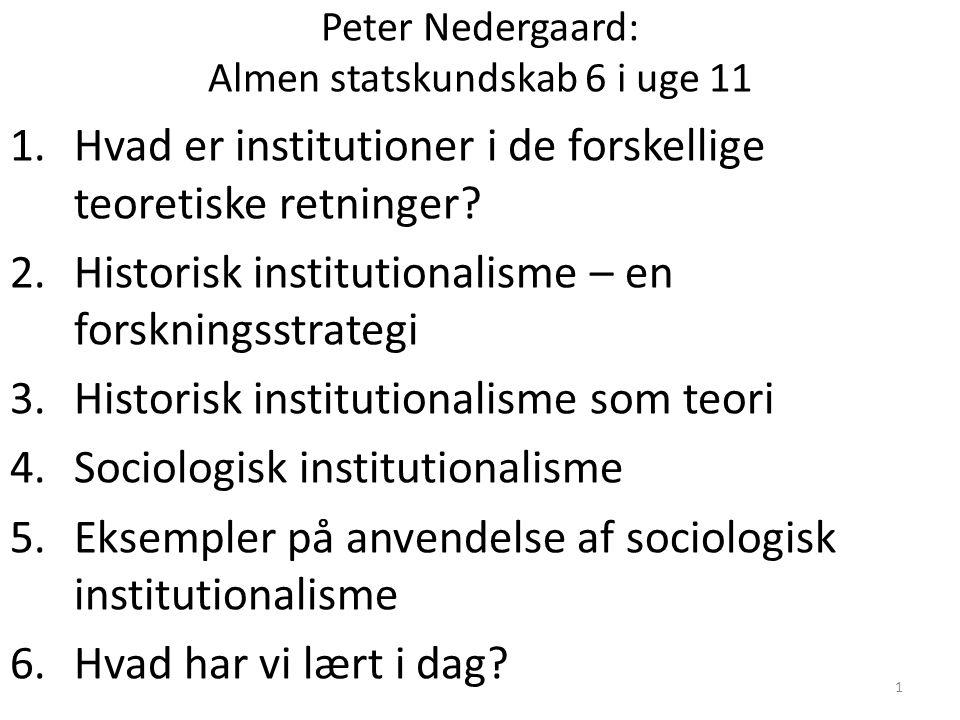 Peter Nedergaard: Almen statskundskab 6 i uge 11