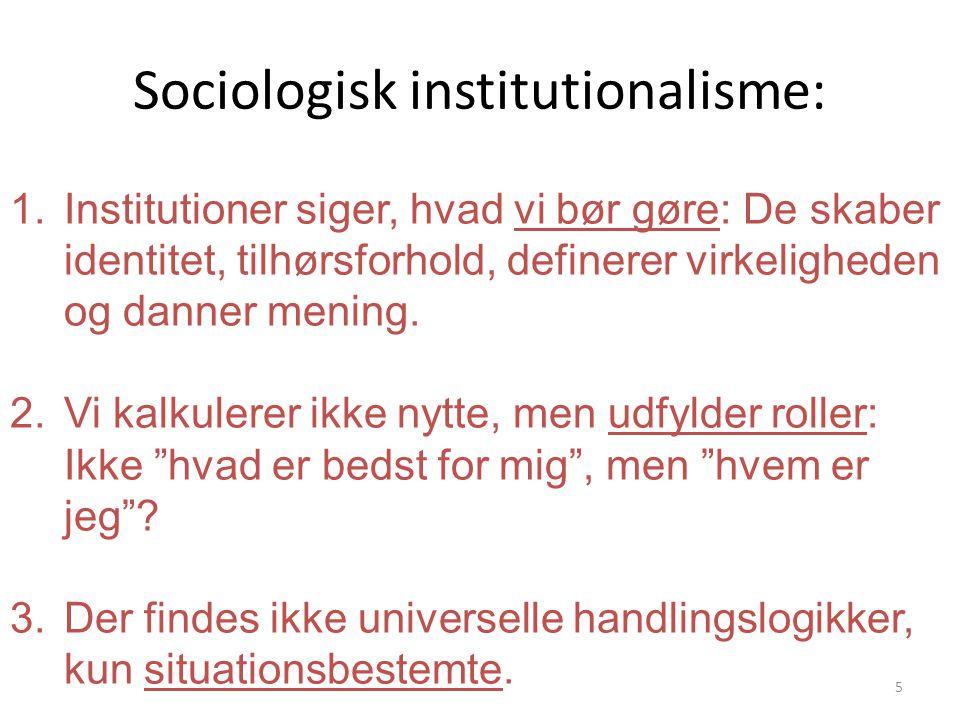 Sociologisk institutionalisme: