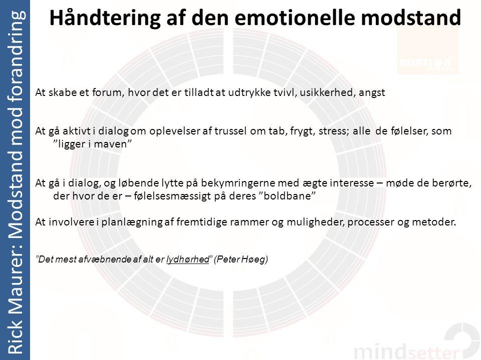 Håndtering af den emotionelle modstand