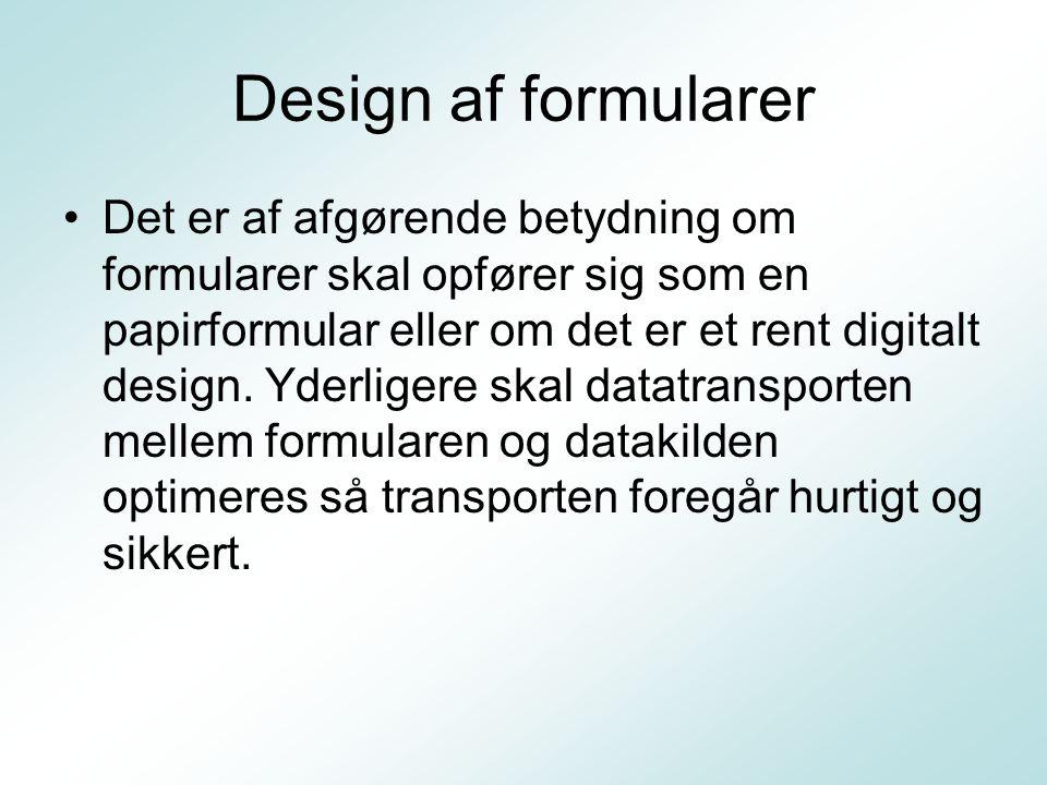 Design af formularer