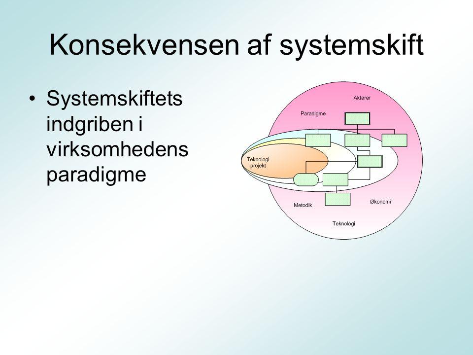 Konsekvensen af systemskift