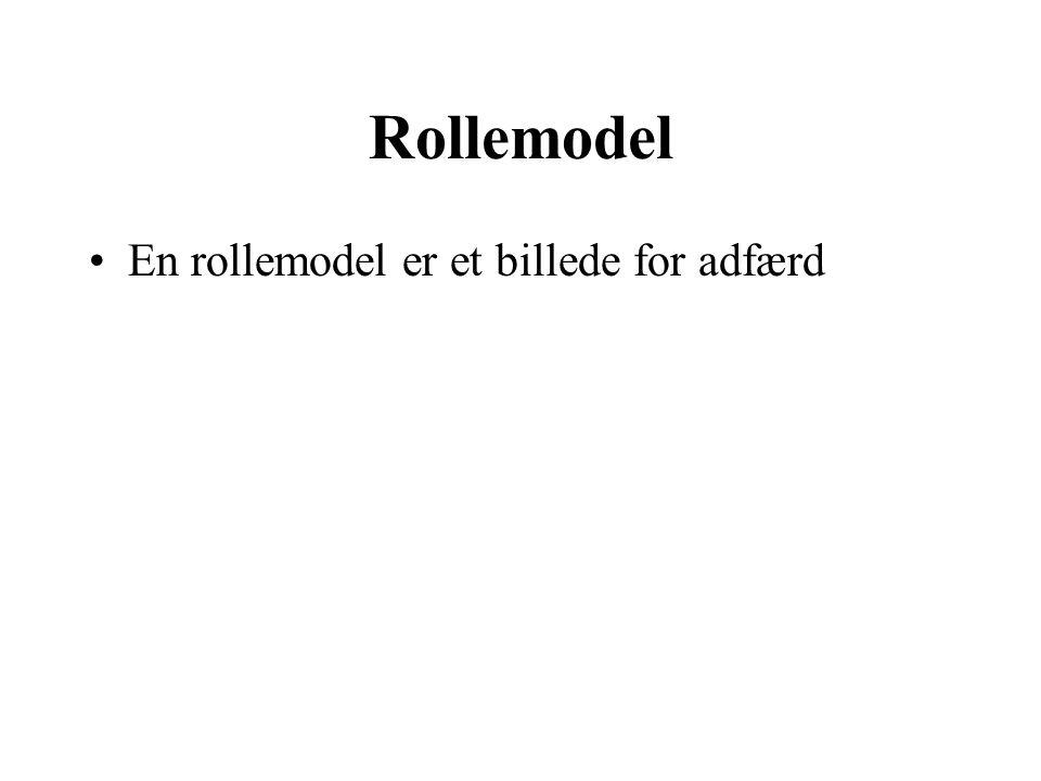 Rollemodel En rollemodel er et billede for adfærd