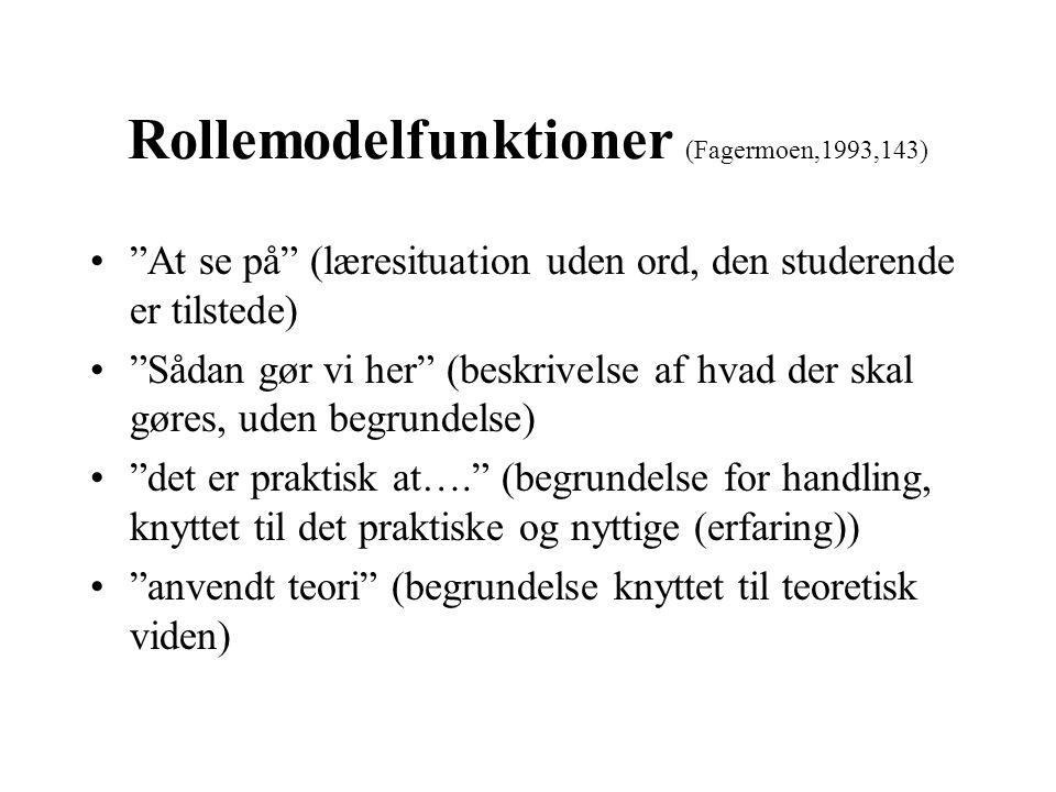 Rollemodelfunktioner (Fagermoen,1993,143)