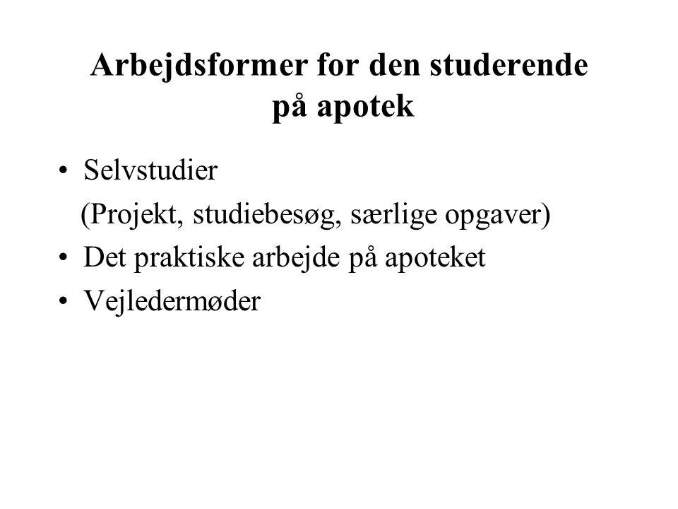 Arbejdsformer for den studerende på apotek