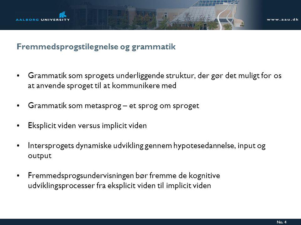 Fremmedsprogstilegnelse og grammatik