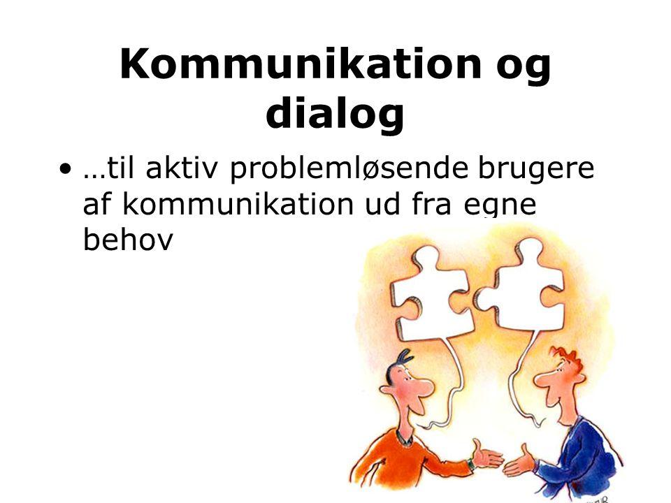 Kommunikation og dialog