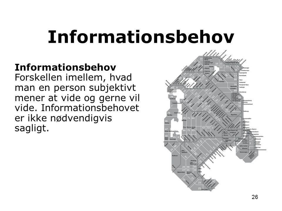 Informationsbehov Informationsbehov