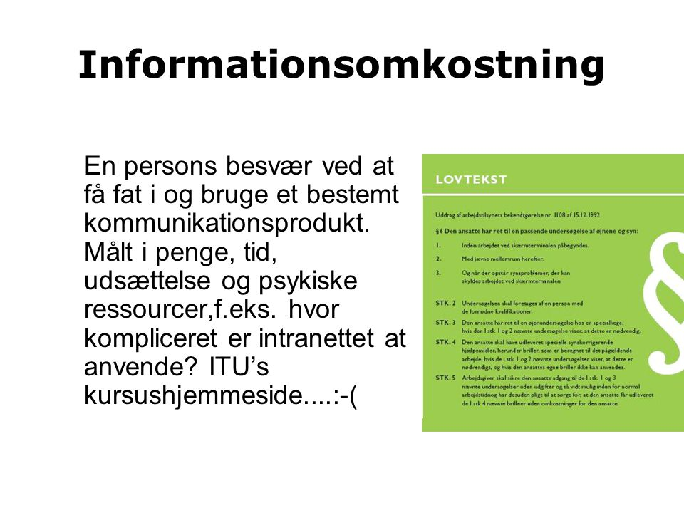 Informationsomkostning