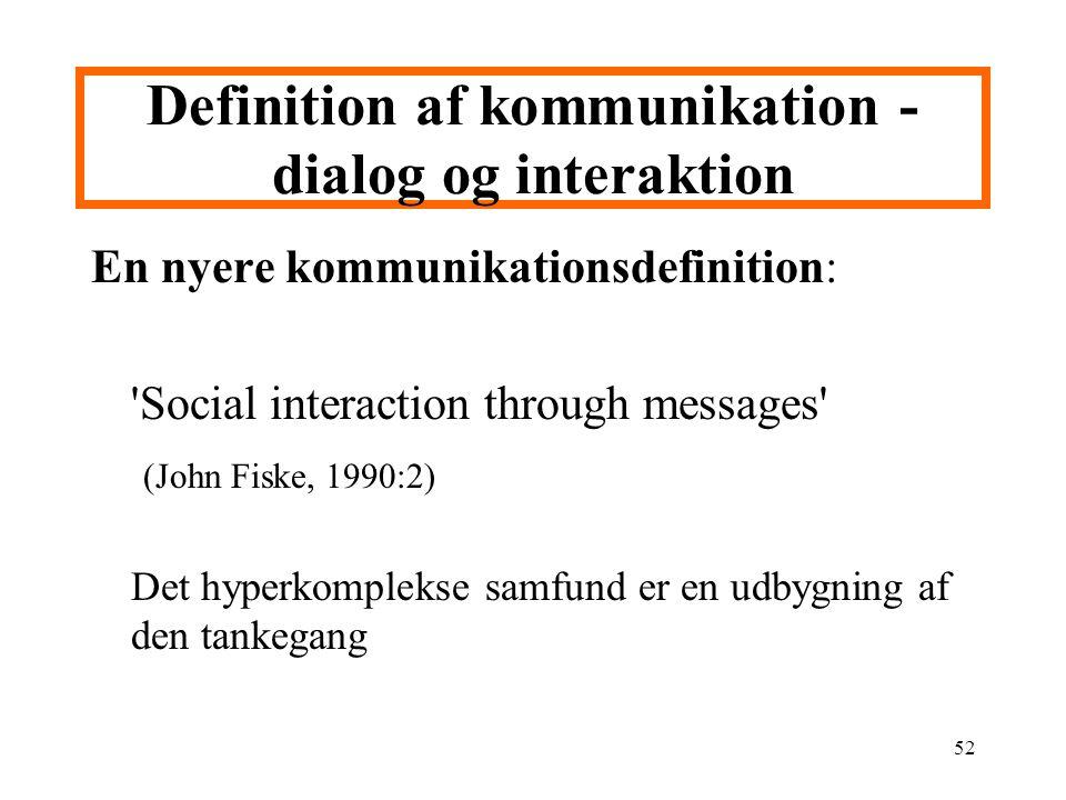 Definition af kommunikation - dialog og interaktion