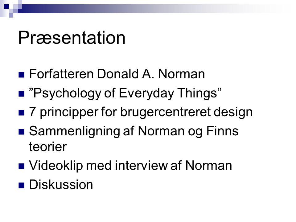 Præsentation Forfatteren Donald A. Norman