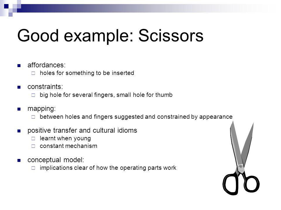 Good example: Scissors