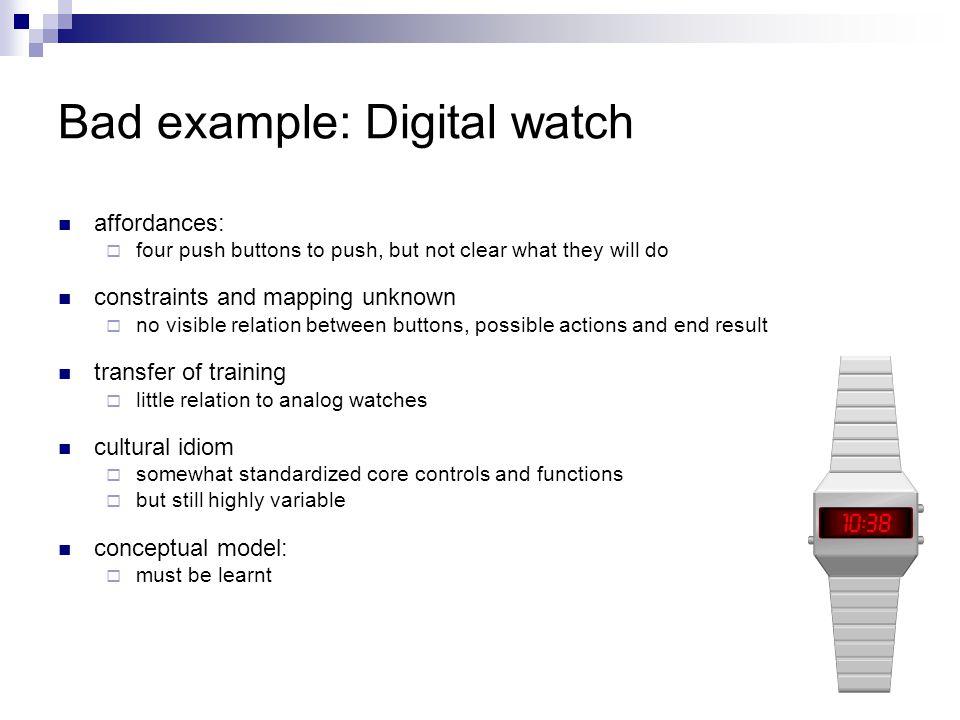 Bad example: Digital watch