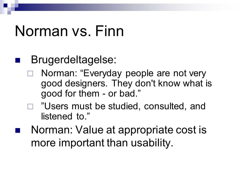 Norman vs. Finn Brugerdeltagelse: