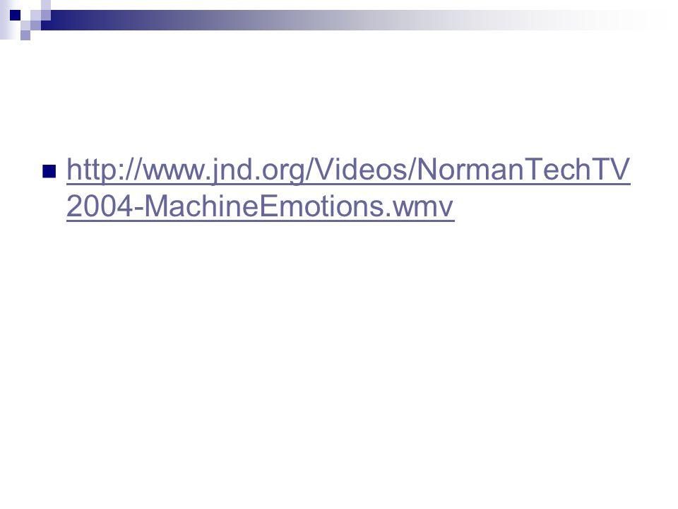 http://www.jnd.org/Videos/NormanTechTV2004-MachineEmotions.wmv