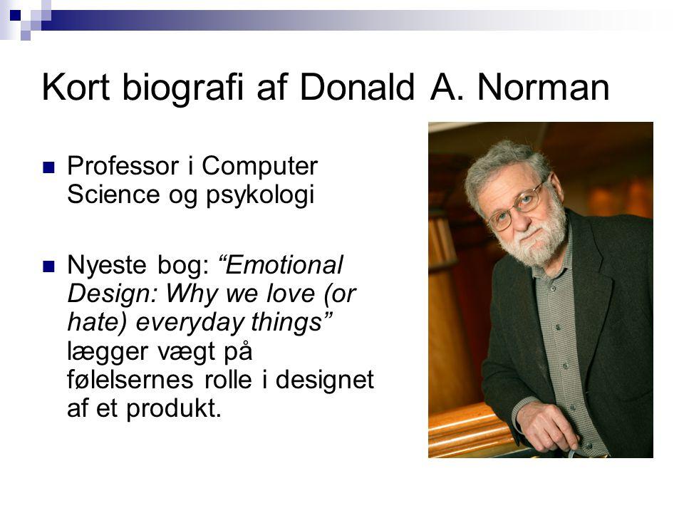 Kort biografi af Donald A. Norman