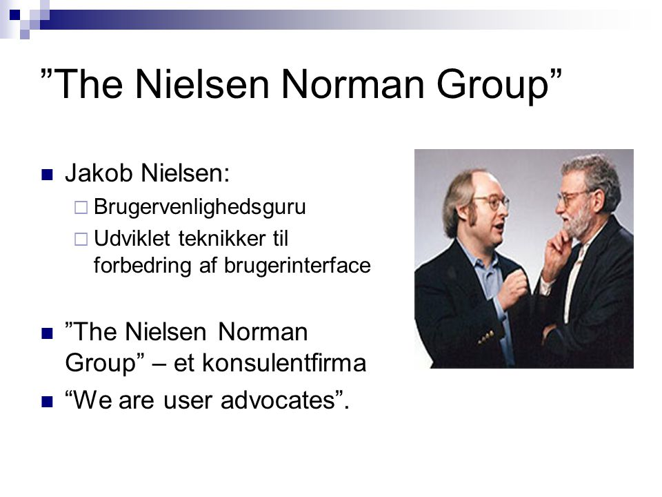The Nielsen Norman Group