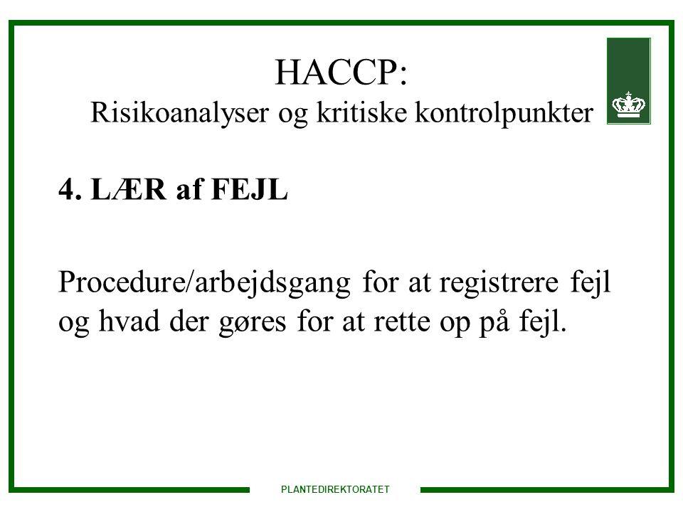 HACCP: Risikoanalyser og kritiske kontrolpunkter