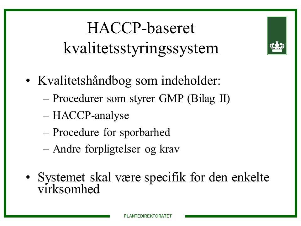 HACCP-baseret kvalitetsstyringssystem