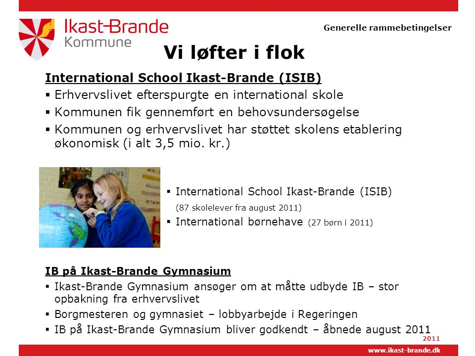 Vi løfter i flok International School Ikast-Brande (ISIB)