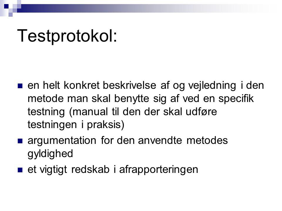 Testprotokol: