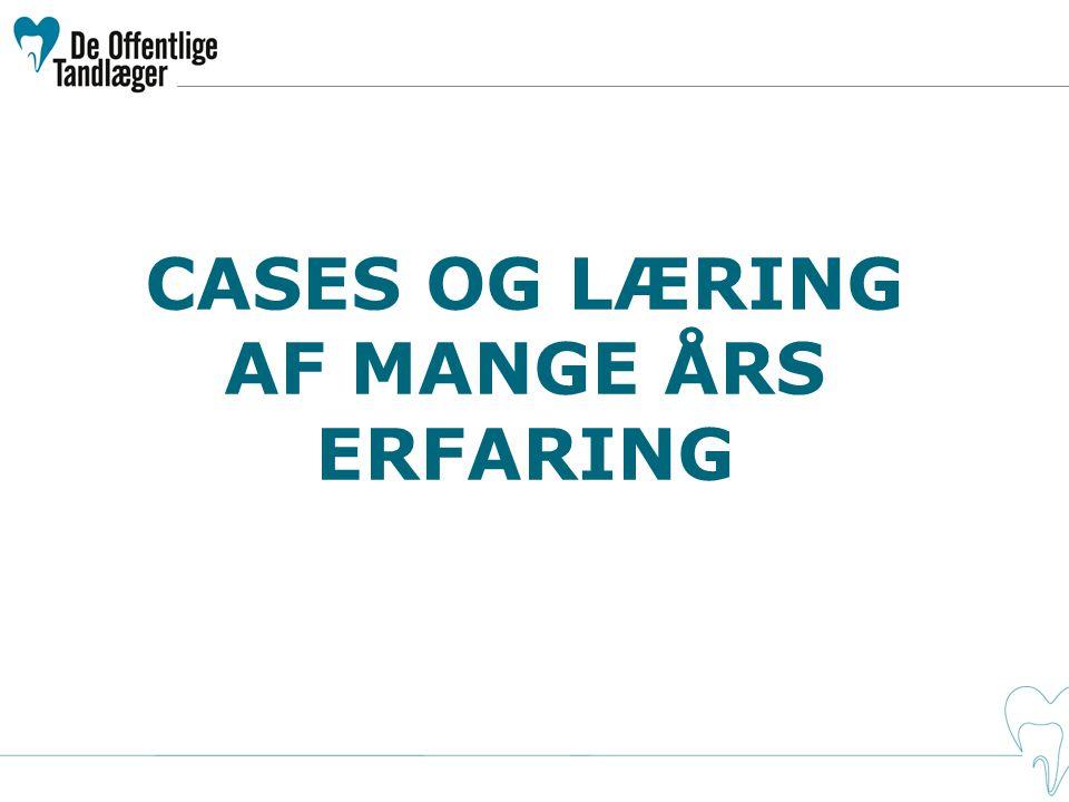 CASES OG LÆRING AF MANGE ÅRS ERFARING