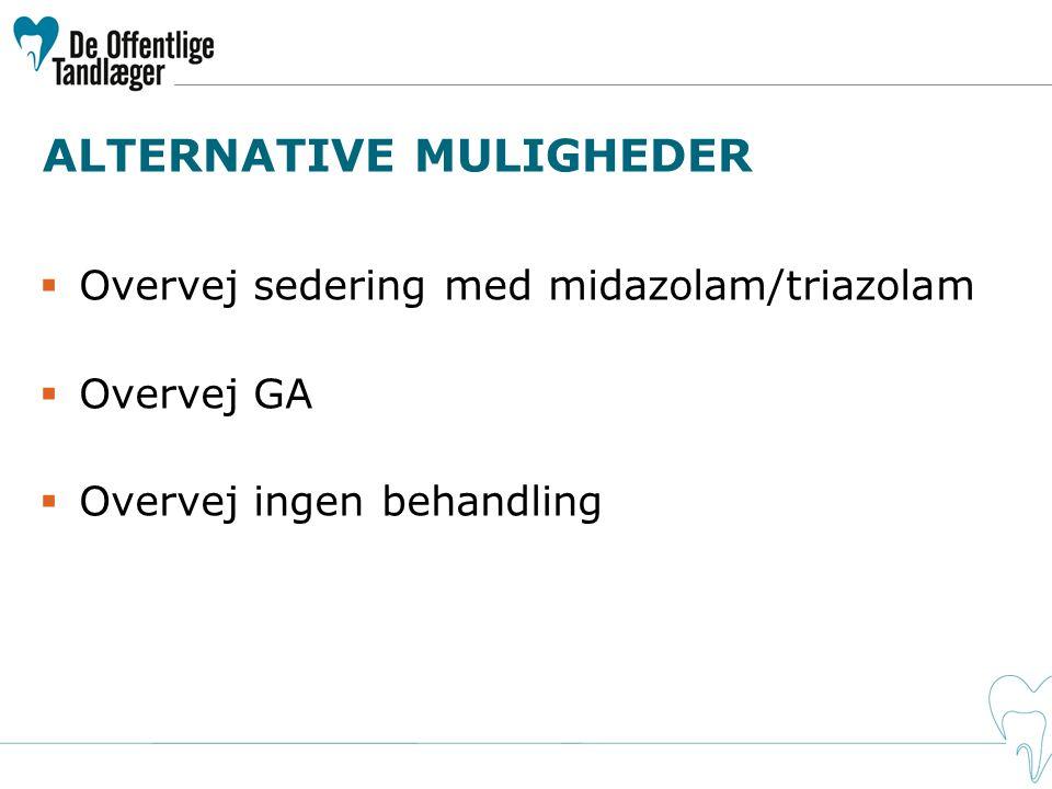 ALTERNATIVE MULIGHEDER