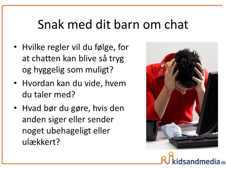 Snak med dit barn om chat