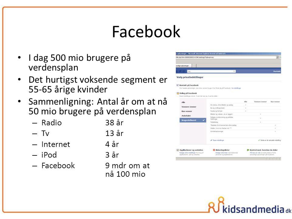 Facebook I dag 500 mio brugere på verdensplan