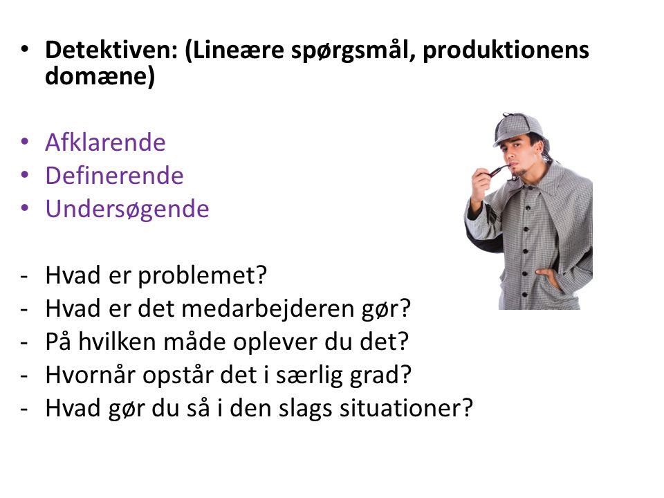 Detektiven: (Lineære spørgsmål, produktionens domæne)