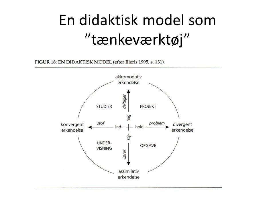 En didaktisk model som tænkeværktøj