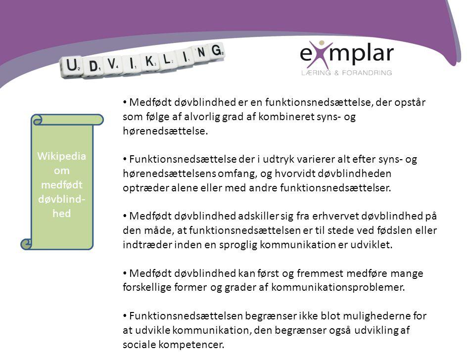 Wikipedia om medfødt døvblind-hed