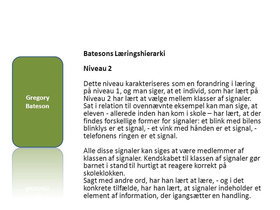 Batesons Læringshierarki Niveau 2