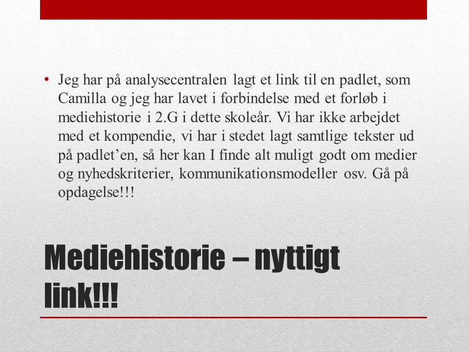 Mediehistorie – nyttigt link!!!