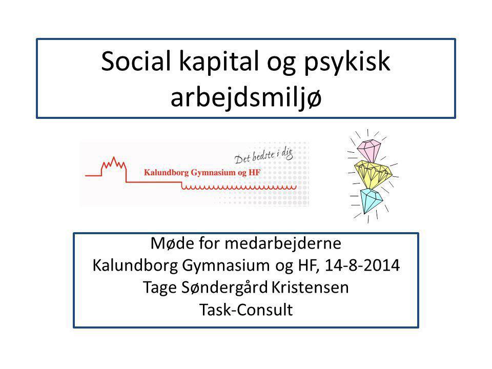 Social kapital og psykisk arbejdsmiljø