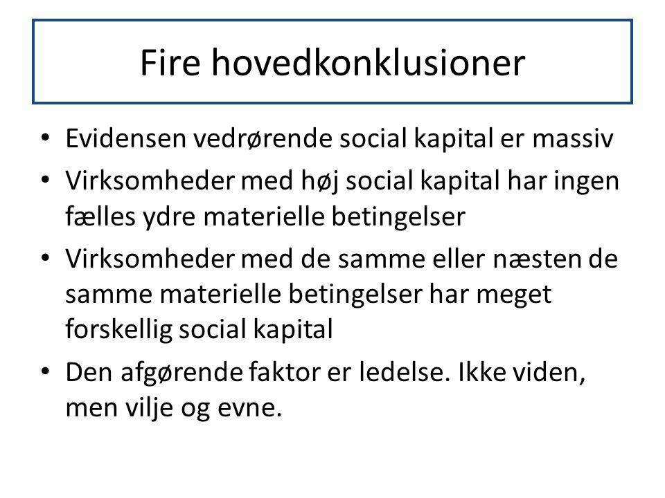 Fire hovedkonklusioner