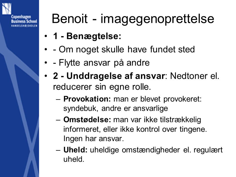 Benoit - imagegenoprettelse