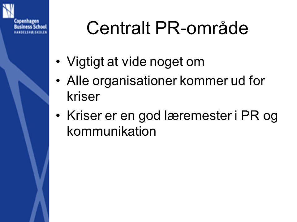 Centralt PR-område Vigtigt at vide noget om