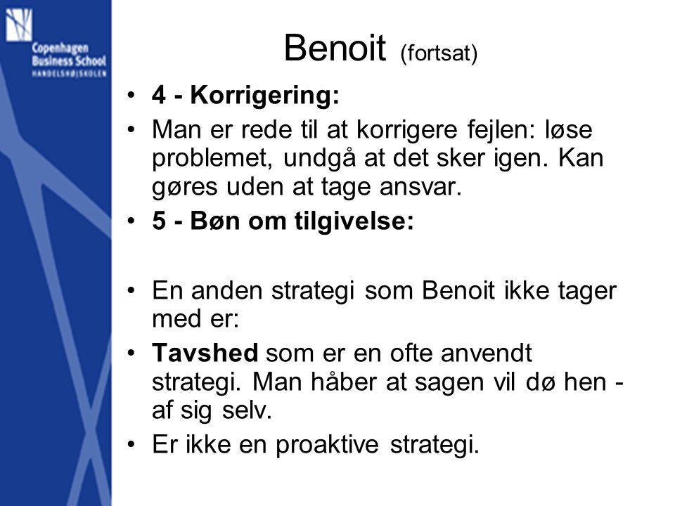 Benoit (fortsat) 4 - Korrigering: