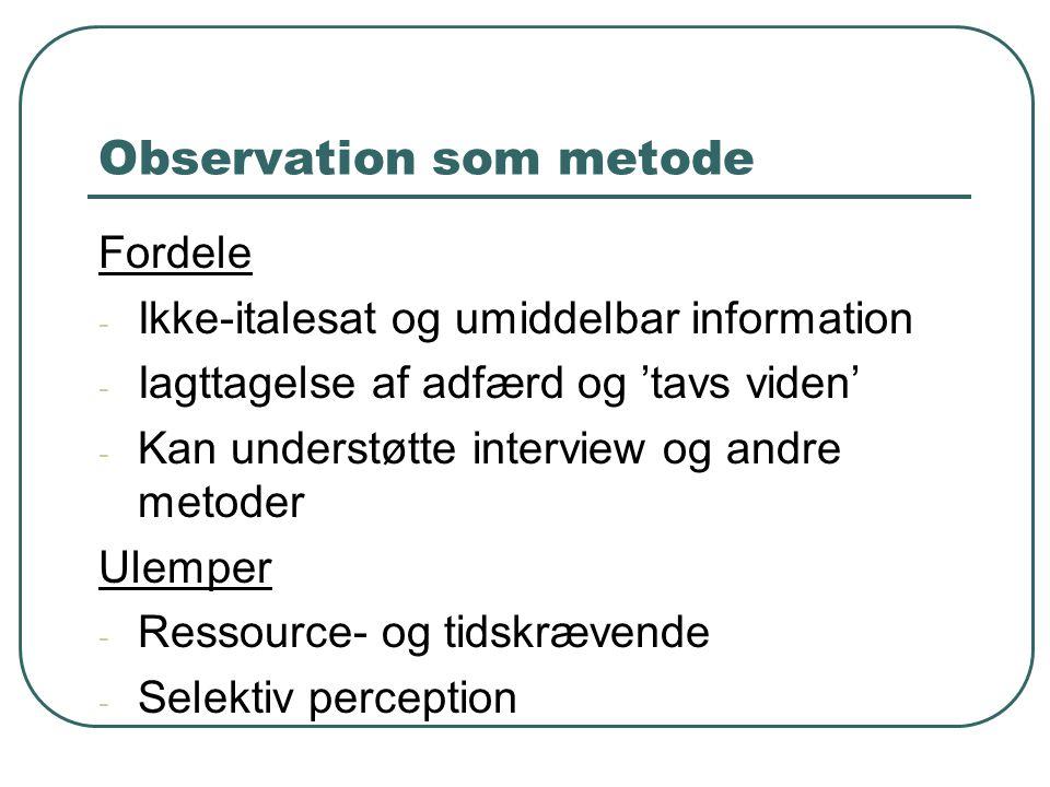 Observation som metode