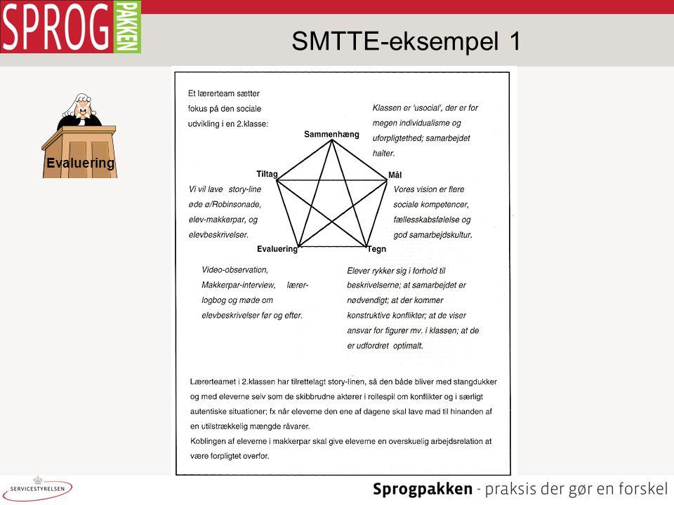 SMTTE-eksempel 1 Evaluering Jørgen Kloster Larsen 07-04-2017