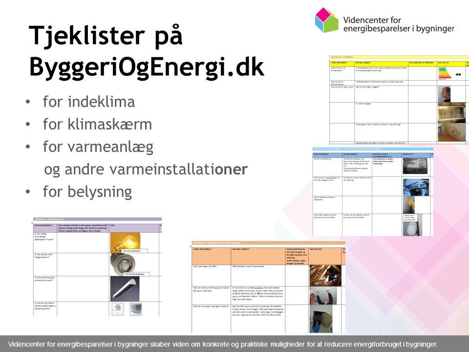 Tjeklister på ByggeriOgEnergi.dk