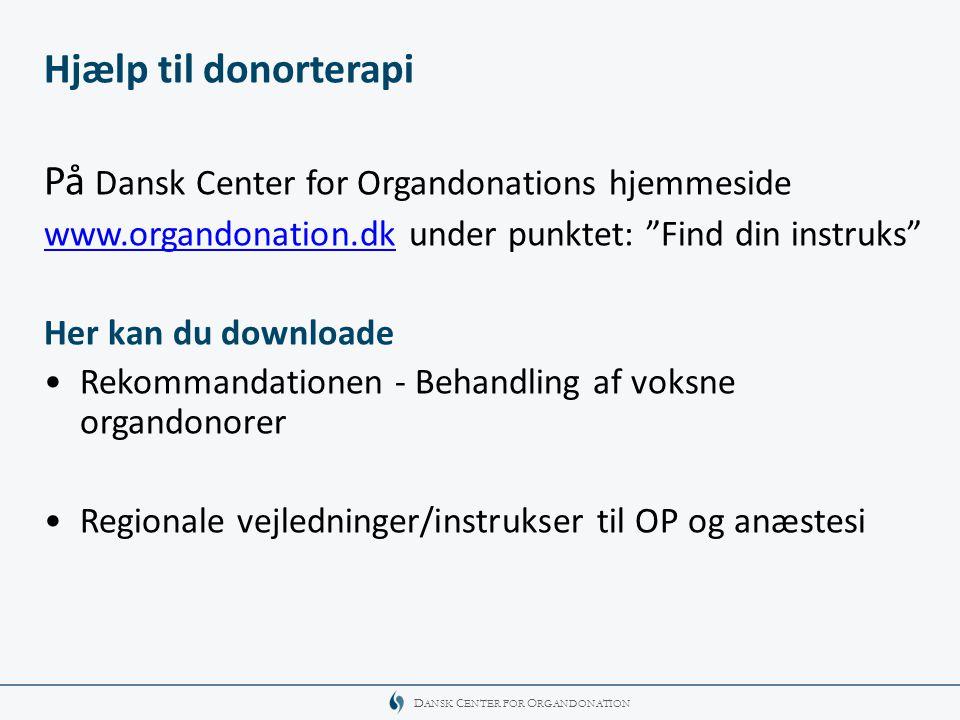 På Dansk Center for Organdonations hjemmeside